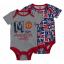 เสื้อผ้าแมนเชสเตอร์ ยูไนเต็ดของแท้ สำหรับเด็กเล็ก Manchester United 2 PK Bodysuits thumbnail 1