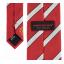 เนคไทแมนเชสเตอร์ ยูไนเต็ดของแท้ Manchester United Crest Striped Tie Red-White Polyester thumbnail 3