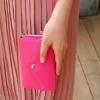 [ พร้อมส่ง ] - กระเป๋าสตางค์แฟชั่น สไตล์เกาหลี สีชมพูเข้ม ใบกลาง(รุ่นใหม่) แต่งมงกุฎ งานสวยน่ารัก น่าใช้มากๆค่ะ