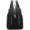 [ พร้อมส่ง - กระเป๋าเป้แฟชั่น สีดำ ดีไซน์เก๋เท่ ๆ ใบกลางๆ ช่องใส่ของเยอะ เหมาะสำหรับพกพา ที่ต้องการความคล่องตัว