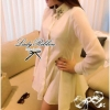Lady Ribbon's made Diamond Collar Shirt Mini Dress
