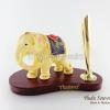 ของที่ระลึก ช้างทรงเครื่องเรซิ่น ที่เสียบปากกา รูปช้างยืน สินค้าพร้อมส่ง