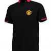 เสื้อโปโลแมนเชสเตอร์ ยูไนเต็ด Manchester United Essential Crest Polo Shirt Black ของแท้