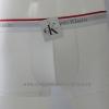 กางเกงในชาย Calvin Klein Boxer Briefs : สีขาว ขอบขาวแดง