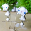 ต่างหูกระต่ายลอปสีขาว Bunny Lop white Earrings