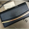 CHARLES & KEITH wallet กระเป๋าสตางค์ใบยาวฝาปิดหนัง Saffiano