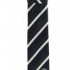 เนคไทแมนเชสเตอร์ ยูไนเต็ดของแท้ Manchester United Crest Striped Tie Navy White Polyester