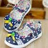 รองเท้าคัชชูเด็กหญิง สีน้ำเงิน โบว์จุด น่ารัก Size 27-32 สำหรับเด็กวัย 3-6 ปี