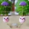 Rainy white owl
