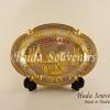 ของแจกลูกค้า จานโชว์ ทรงวงรีสีทอง By Huda Souvenirs