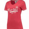 เสื้อแมนเชสเตอร์ ยูไนเต็ดของแท้ สำหรับสุภาพสตรี Manchester United Essential V Neck T-Shirt - Red - Womens
