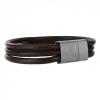 กำไลข้อมือลิเวอร์พูล Brown Leather Crest Bracelet ของแท้