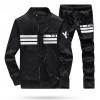 ชุดเสื้อแจ็คเก็ต-กางเกงขายาว : สีดำ รุ่น KOMA ST0001