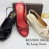 516) New รองเท้าส้นเตารีด หน้าไขว้ สีพาสเทลหวานๆ