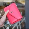 [ พร้อมส่ง ] - กระเป๋าสตางค์แฟชั่น สไตล์เกาหลี สีชมพูเข้ม ใบเล็ก แต่งมงกุฎ งานสวยน่ารัก น่าใช้มากๆค่ะ
