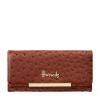 Pre-Order • UK | กระเป๋าสตางค์ Harrods Novello Ostrich-Embossed Flap Front Wallet