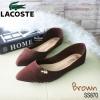 870) คัชชู ทรง Zara หน้าเรียวแหลม ปั้ม Lacoste