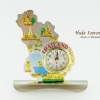 ของที่ระลึกไทย นาฬิกาพรีเมี่ยม ลวดลายเอกลักษณ์ไทย รูปทรงแผนที่ประเทศไทย ปั้มลายเนื้อนูน วัสดุทองเหลือง