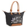 Pre-Order • UK | Bailey & Quinn London • Black Pictured Nylon Large Tote Bag