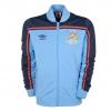 เสื้อ Retro แมนเชสเตอร์ ซิตี้ ของแท้ 100% Manchester City 1981 Centenary FA Cup Final Anthem Jacket - Provence/Navy/Vermillion เป็นของฝาก ของสะสม ที่ระลึก ของขวัญแด่คนสำคัญ Size: M L XL XXL