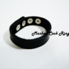 Black Masked Leather Adjustment Cock Ring