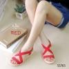 765) งานยอดฮิต Elastics Shoes Sandel ver2 ทรงไขว้ พื้นยางซิลิโคน