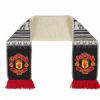 ผ้าพันคอแมนเชสเตอร์ ยูไนเต็ดของแท้ Manchester United Fleece Lined Fairisle Scarf Grey/Red Adult