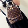 [ Pre-Order ] - กระเป๋าเป้แฟชั่น สไตล์ยุโรป สีน้ำตาลลายดาว ใบเล็กกระทัดรัด ดีไซน์สวยเก๋ไม่ซ้ำใคร เหมาะกับสาว ๆ ที่กำลังมองหากระเป๋าเป้ใบจิ๋ว