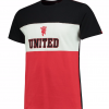 เสื้อทีเชิ้ตแมนเชสเตอร์ ยูไนเต็ด Panel T-Shirt - Black/Red/White ของแท้