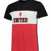เสื้อทีเชิ้ตแมนเชสเตอร์ ยูไนเต็ด Panel T-Shirt - Black/Red/White ของแท้