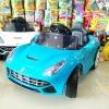 รถแบตเตอรี่เด็กนั่งไฟฟ้า ยี่ห้อ MiNi FERRARI 2m สีฟ้า