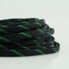 สายถัก 10 mm สีดำแถบเขียว
