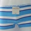 กางเกงในชาย Calvin Klein Boxer Briefs Free Size: สีขาว ลายทางฟ้าน้ำเงิน