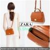 Zara กระเป๋าถือและสะพายหนังลายจระเข้ดีไซน์วินเทจ