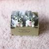 ต่างหูดินปั้น Baby siberian husky (Gray)