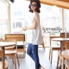 White Lace embroidery blouse style korea
