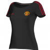 เสื้อแมนเชสเตอร์ ยูไนเต็ดของแท้ สำหรับสุภาพสตรี Manchester United Core T-Shirt - Womens Black