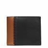 กระเป๋าสตางค์ผู้ชาย COACH COMPACT ID WALLET IN BASEBALL STITCH LEATHER F75170