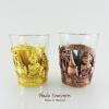 แก้วเป๊ก ลวดลายเอกลักษณ์ไทย แพ็คคู่สองสี วัสดุโลหะ สินค้าบรรจุในกล่องเรียบร้อย สินค้าพร้อมส่ง