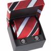 ชุดเนคไทคัฟฟลิ่งแมนเชสเตอร์ ยูไนเต็ด ผ้าไหมของแท้ Manchester United Crest Tie Silk Cufflink Set