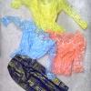 เสื้อไทย ลูกไม้แขนยาว ระบายคอกระเช้า จั๊มเอว เด็ก-ผู้ใหญ่