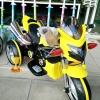 รถมอเตอร์ไซค์ดูคาติท่อคู่ สีเหลือง