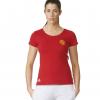 เสื้ออดิดาสแมนเชสเตอร์ ยูไนเต็ด คอร์ทีเชิ้ตผู้หญิงสีแดงของแท้