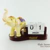 ของที่ระลึก ช้างทรงเครื่องเรซิ่นปฏิทิน รูปช้างอ้วนชูงวง สินค้าพร้อมส่ง