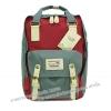 [ พร้อมส่ง ] - กระเป๋าเป้ Doughnut Macaroon Hong Kong canvas backpack #GREY X WINE