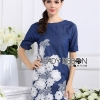 Lady Ribbon's Made Lady Elena Basic Insert Lace Denim Dress