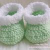 รองเท้าบู๊ทขนแกะ แคนดี้ เขียวอ่อน - ขาว