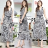 Lady Cassandra Swirl Mixed Print Maxi Dress