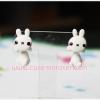 ต่างหูดินปั้น กระต่ายขาว Cute rabbit Earrings