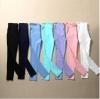 Leggings กางเกงขายาว เพิ่มดีเทลผ้ายืดคลุมท้อง สีหวาน